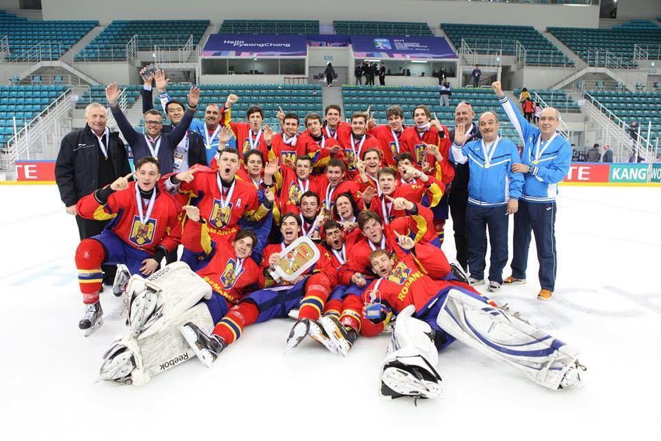 Medalie de aur pentru echipa României la Campionatul Mondial U 18, Divizia II, Grupa A, Gangneung, Coreea de Sud 2 – 8 aprilie 2017